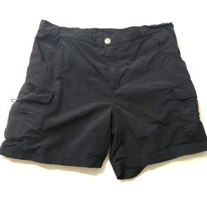 White Sierra Black Womens Cargo Board Shorts